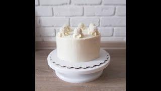 Торт кокосовый Рафаэлло. Крем и сборка торта
