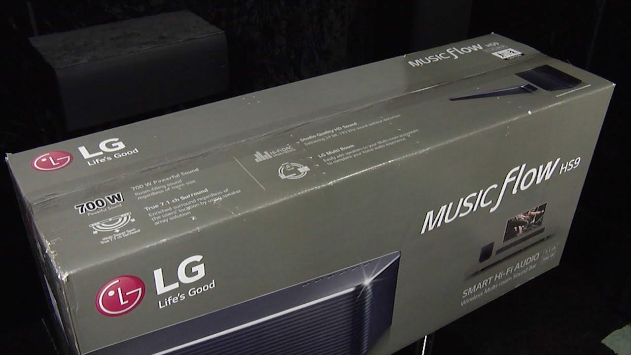 LG Musicflow HS9 Soundbar Unboxing