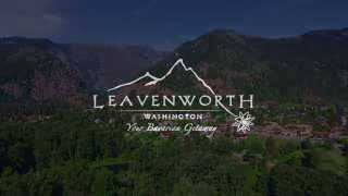 a leavenworth postcard views from above