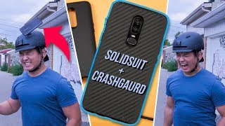 The BEST OnePlus 6 Cases! - RhinoShield SolidSuit and CrashGuard Case for OnePlus 6 - Review