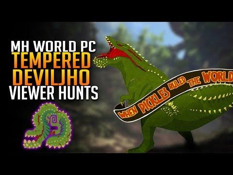 Tempered Deviljho Viewer Hunts! Monster Hunter World PC Gameplay