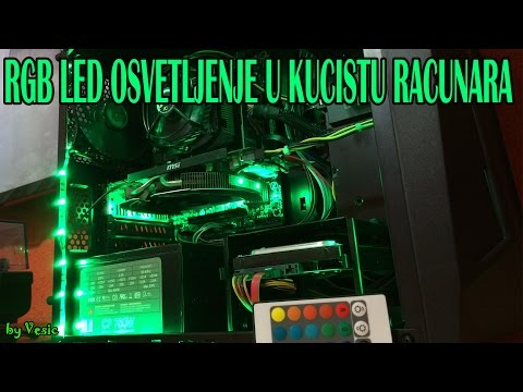 Kako postaviti RGB LED trake u kuciste racunara