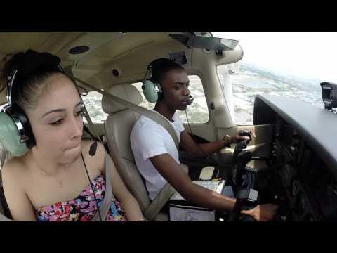 Cessna 172  Flying Girlfriend to Pompano Beach  ATC Audio
