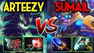 Arteezy [OD] VS SumaiL [Tinker] DOTA2 Patch 7.02 - Civi War
