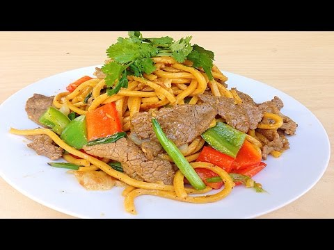 Stir Fried Beef with Shanghai Noodles - Mi Xao Thuong Hai