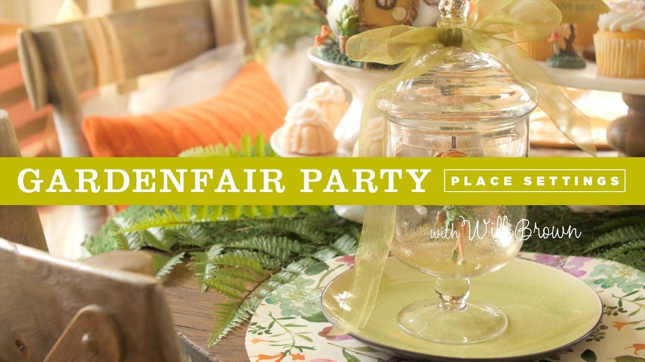 DIY fairy garden table settings for a Fairy Garden party & DIY fairy garden table settings for a Fairy Garden party - YouTube