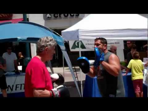 72 year old Andy @ 2012 S.M Chamber of  Commerce health and fitness festival