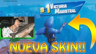Winning with the NEW SKIN of TIBURON!! - Fortnite