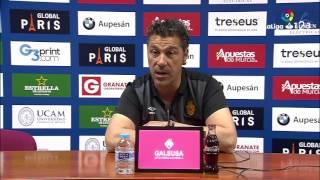 Rueda de prensa de Javier Olaizola tras el UCAM Murcia vs RCD Mallorca (1-1)