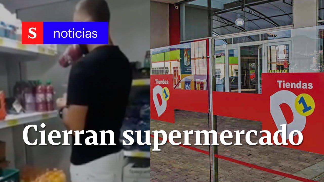D1 cierra supermercado en Risaralda por hombre que probó varias botellas de jugo | Semana Tv