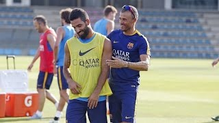 FC Barcelona training session: first day of double sessions