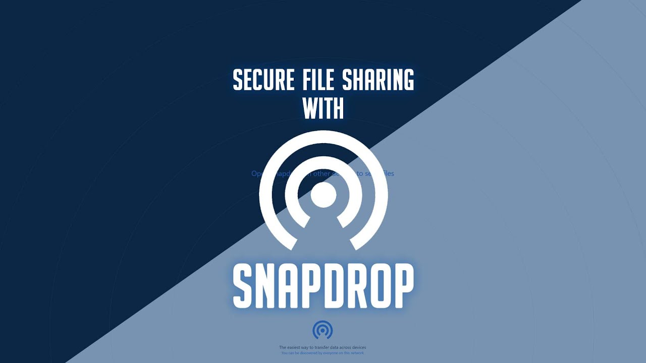 Secure File Sharing with SnapDrop in Docker