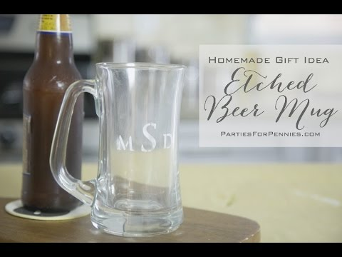 homemade gift idea for guys etched beer mug youtube