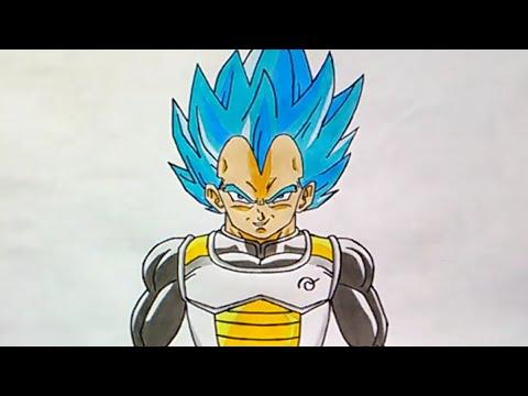 Cmo Dibujar a Veteta SSJ Dios  How to Draw Vegeta SSJ God