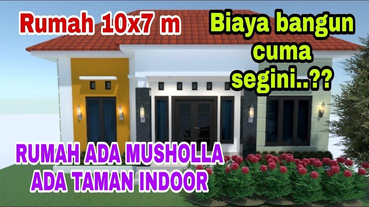 Desain Rumah Minimalis 10x7 Meter 3 Kamar Tidur Sederhana Tapi Modern Youtube
