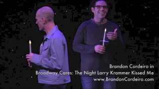 Video Brandon Cordeiro - clips from Broadway Cares: The Night Larry Krammer Kissed Me download MP3, 3GP, MP4, WEBM, AVI, FLV November 2017