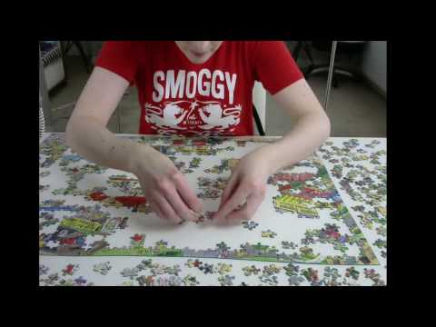 ASMR Jigsaw Puzzle 3 - Background Noise - Some whispering