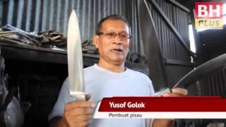 Yusof Golok guna teknik Kemboja tempa pisau