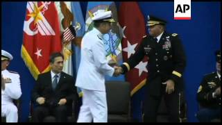 Adm Mike Mullen at ceremony for incoming US Commander