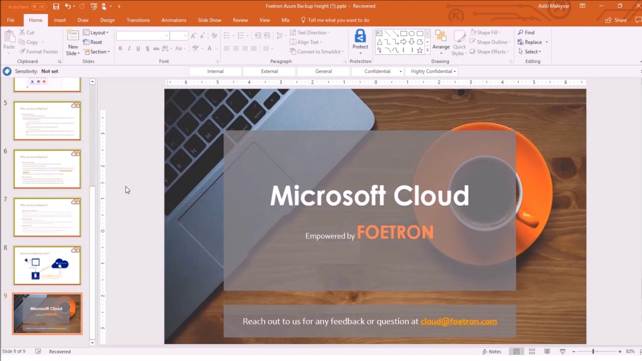 modify master slide powerpoint 2016