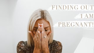 FINDING OUT I'M PREGNANT | EMOTIONAL REACTION + LIVE PREGNANCY TEST