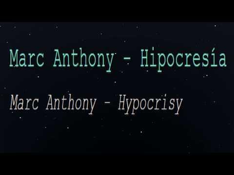 Marc Anthony - Hipocresía (English Lyrics Translation)