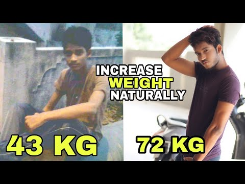 How To Increase Weight Naturally No Supplement | Hindi | Full Day Diet To Gain Weight In 1 Month