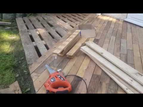 creative diy garden how to create beautiful patio decking using free pallet wood part 1