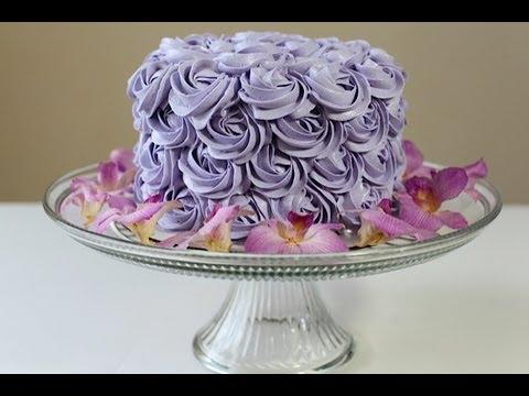 Rosette Cake(Rose Cake)Tutorial - YouTube
