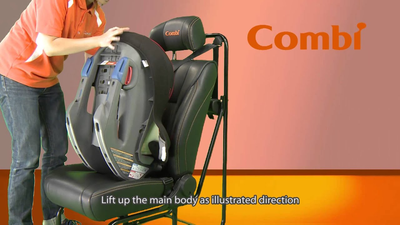 Combi Car Seat - Coccoro Installation (English Subtitle) - YouTube