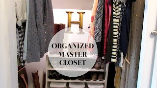 Master Closet Organization + Tour (before + After)