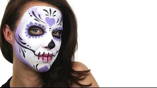 Beginners Sugar Skull Face Painting Tutorial Snazaroo Youtube
