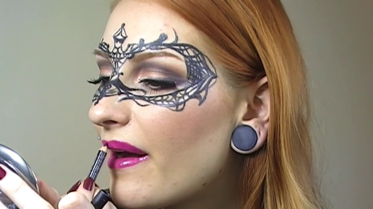 Easy Masquerade Makeup Mask Tutorial / Creative Make up - Easy Creative Makeup