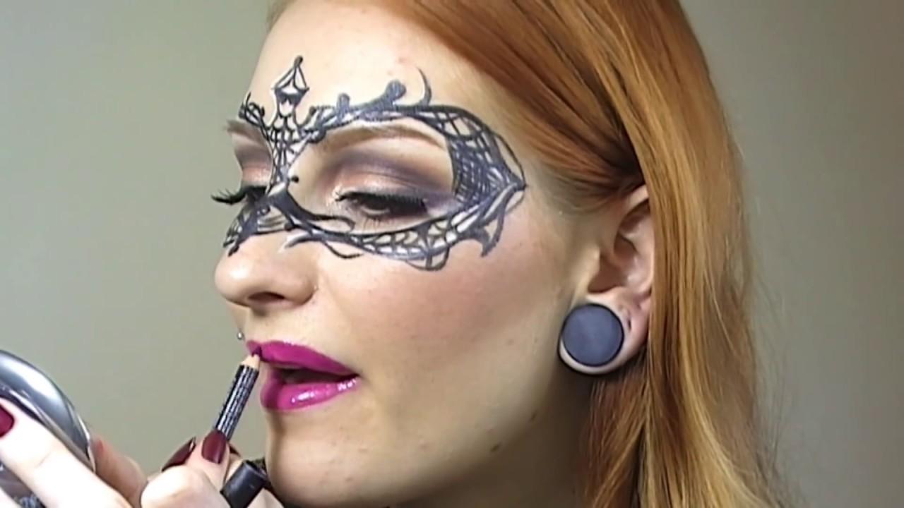 Easy Masquerade Makeup Mask Tutorial / Creative Make-up Halloween ...