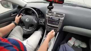 How to DRIVE with PADDLES Shifter Tutorial -  Lexus is250