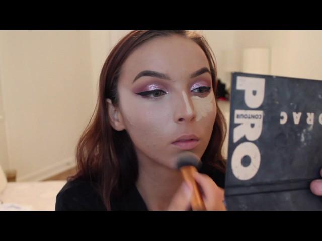 Pink Glitter Makeup Tutorial | Samira Husic