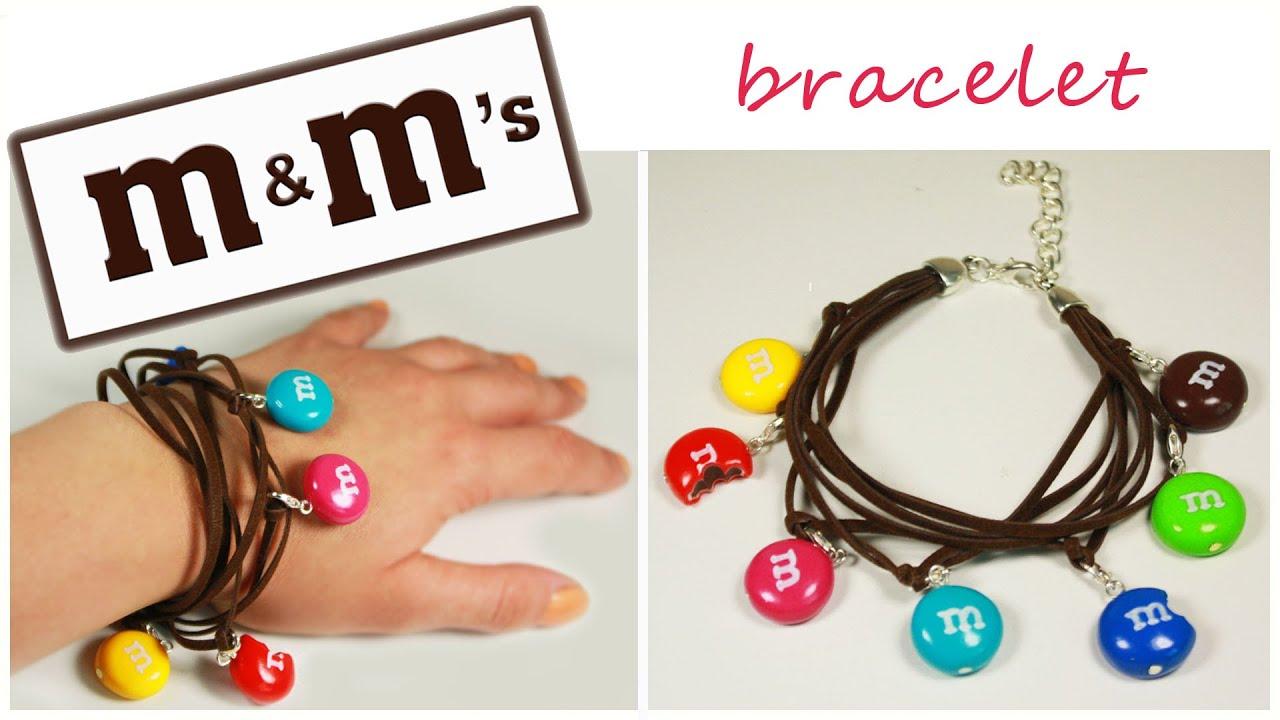 polymer clay m&m s charm bracelet TUTORIAL