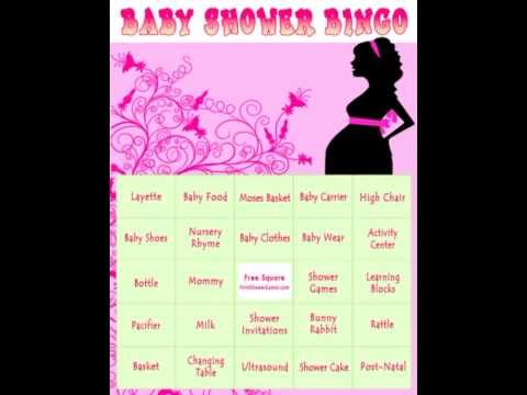 Baby Shower Bingo Games