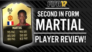 FIFA 17 SECOND IN FORM STRIKER ANTHONY MARTIAL (86) PLAYER REVIEW! | FIFA 17 ULTIMATE TEAM(, 2017-04-27T07:42:02.000Z)