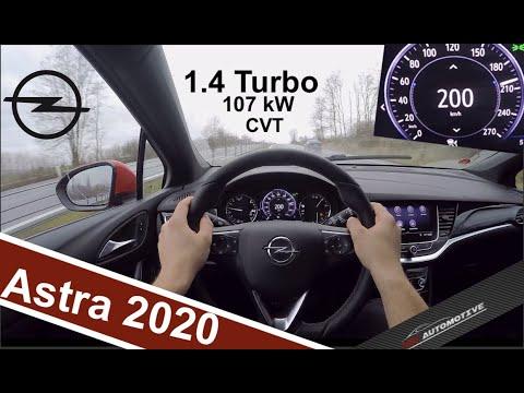 (2020) Opel Astra 1.4 Turbo CVT 107 KW POV Test Drive + Acceleration 0 - 200 Km/h