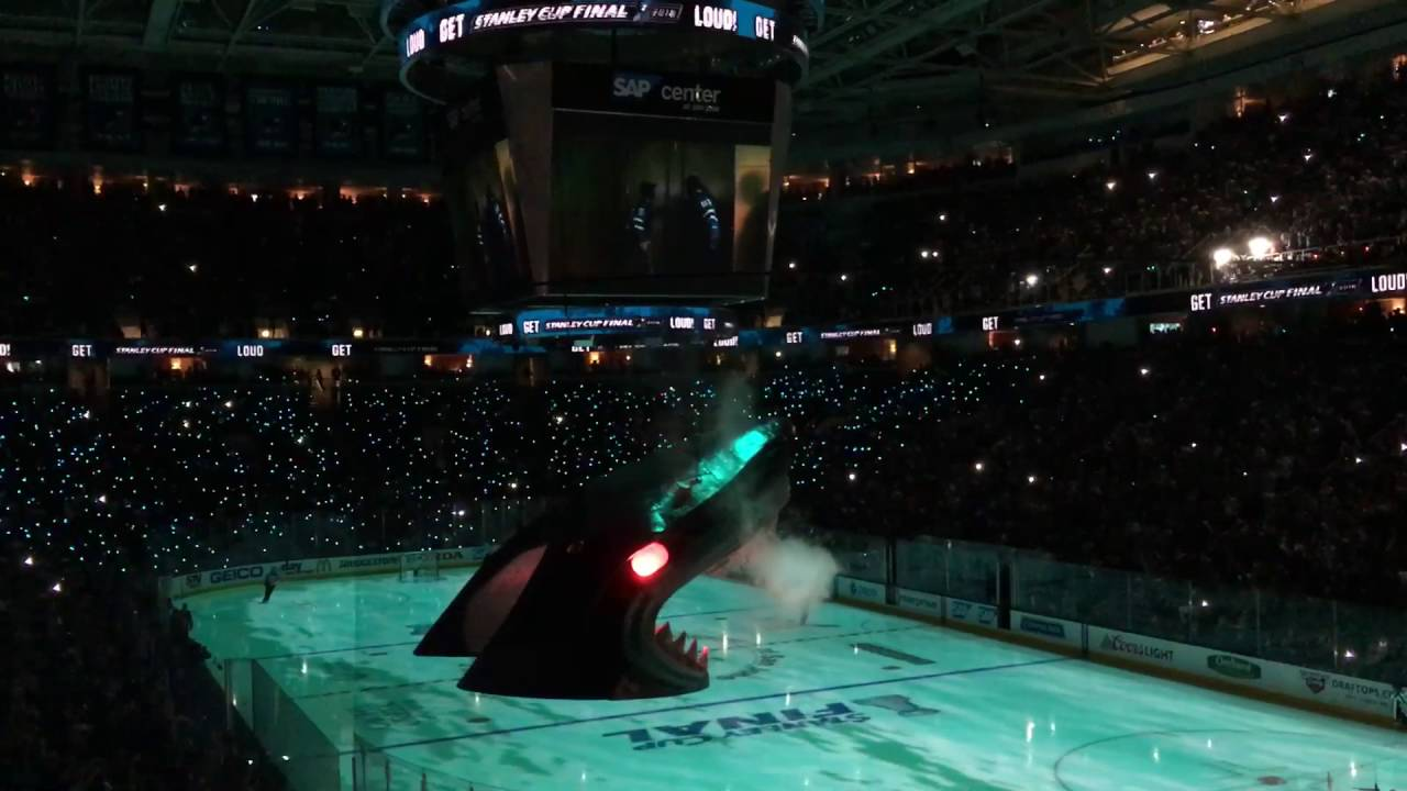 San Jose Sharks Entrance Stanley Cup Game 4 Youtube