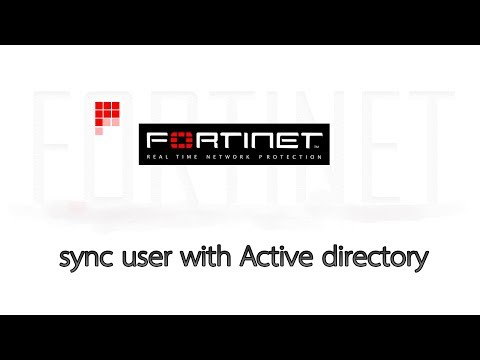 Fortigate Firewall 5 6 sync user with Active directory - YouTube