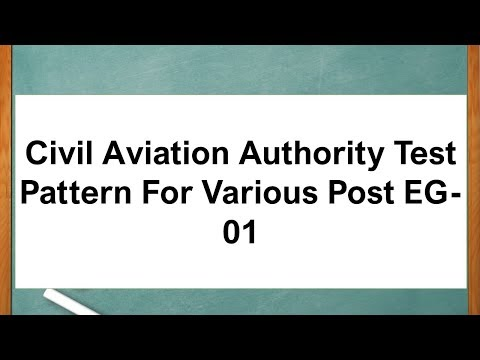 Civil Aviation Authority Test Pattern For Various Post EG-01