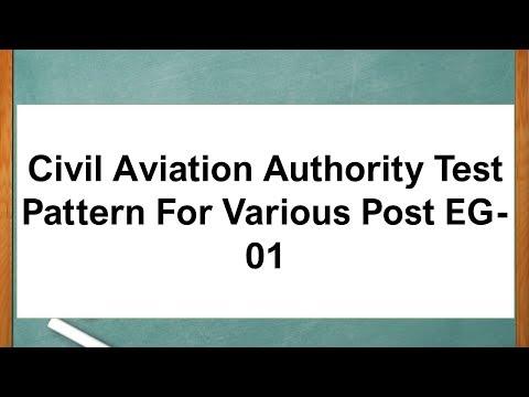 Civil Aviation Authority Test Pattern For Various Post EG-01