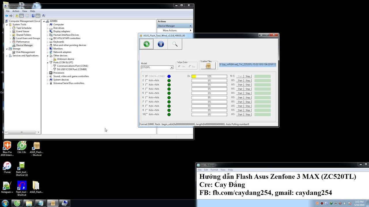 Hướng dẫn Flash Asus Zenfone 3 Max
