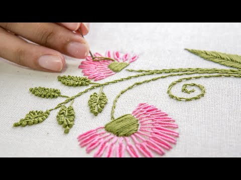 Embroidery Flower Designs Hand Stitching Ideas by HandiWorks thumbnail