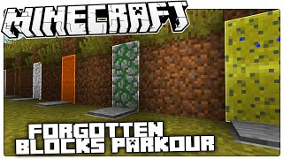 Minecraft | The Blocks You Never Seem To Remember... | Forgotten Blocks Parkour Custom Map