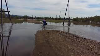 Канск, 2018, паводок, поднимается вода в реке Кан, в реке Тарайка