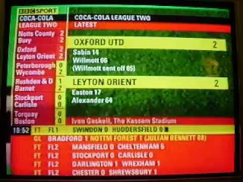 Final day of the Season 2005-2006 Oxford United v Leyton Orient