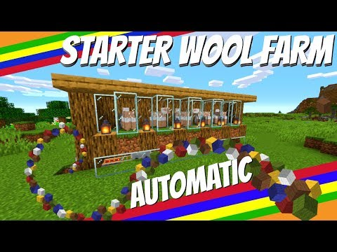 How To Make An Automatic Wool Farm In Minecraft: Starter Farm | Wool Farm Minecraft 1.14+ (Avomance)